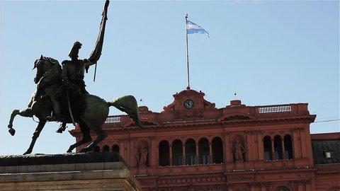 San Martin Monument in the Casa Rosada, Buenos Aires, Argentina.