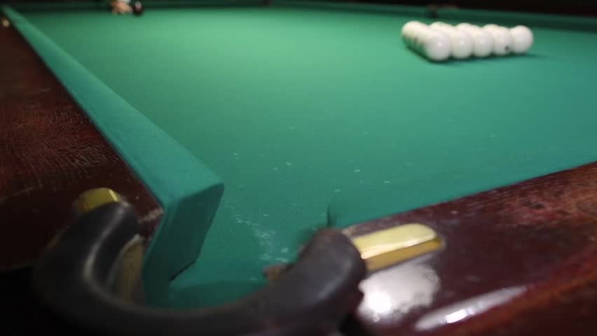 Cue sports. Russian pyramid Billiards. hit the ball into pocket. Slowmotion | Shutterstock HD Video #34894072