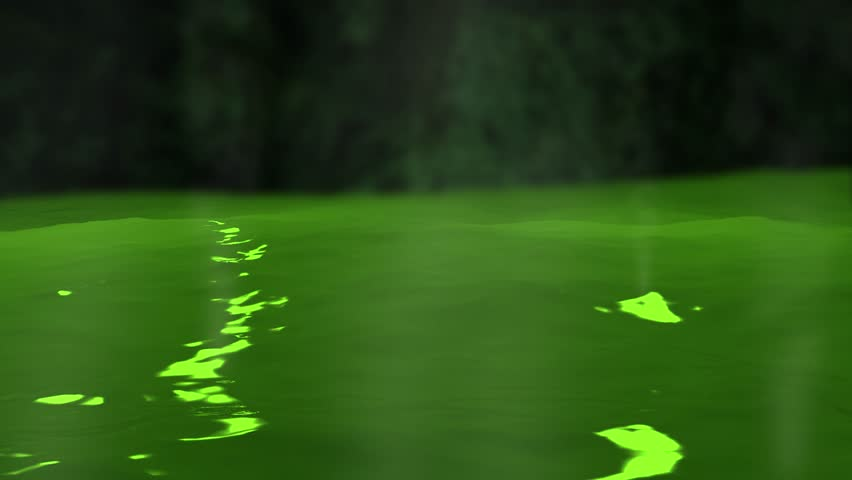 Animated Green Slime or Toxic Waste from Chemicals