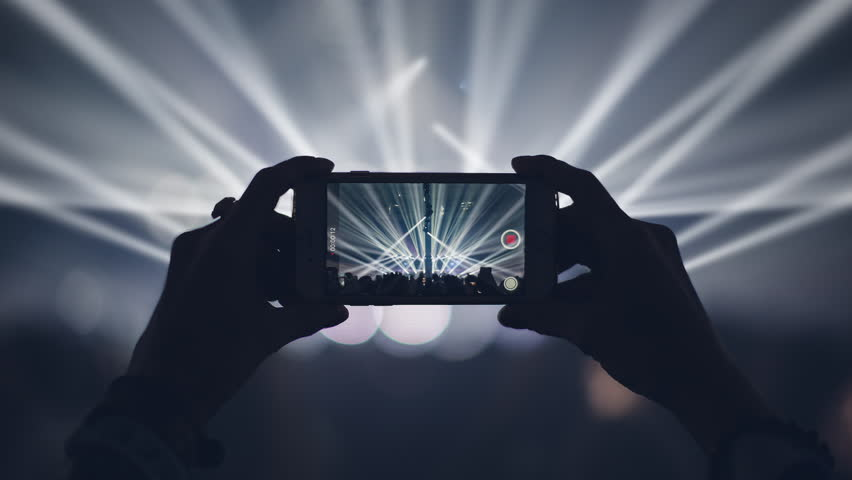Concert live streaming mobile phone 4K
