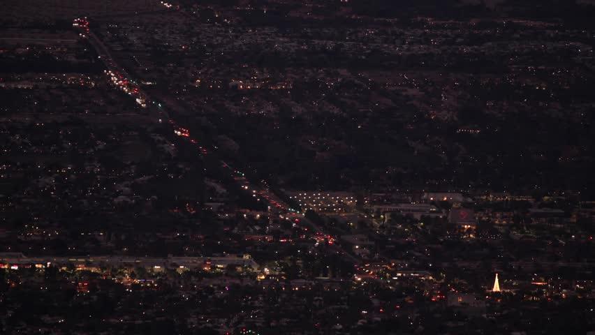Palm Springs, California, USA. Evening Cityscape. Coachella Valley.