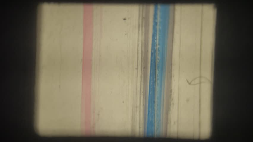 Old movie. 8mm. Painted with colored markers. | Shutterstock HD Video #35023201