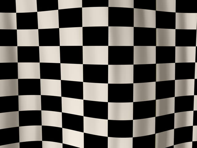 Looping checkered flag animation NTSC