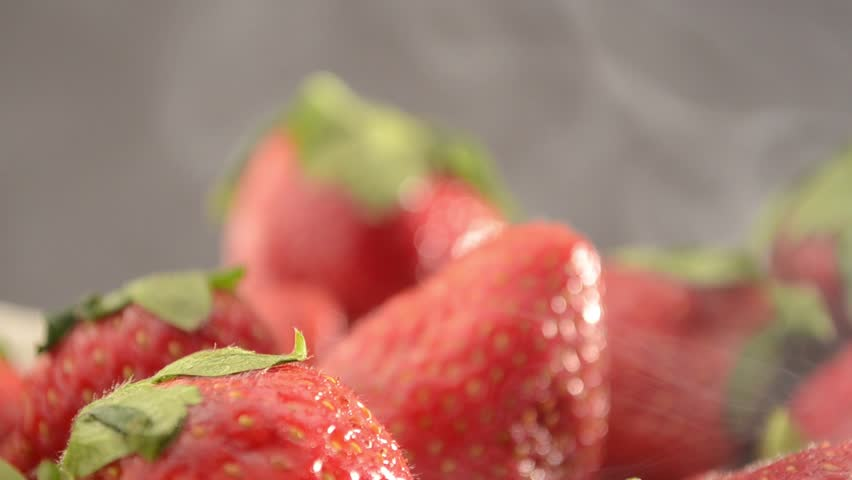 Strawberries In a Bowl - Dolly In