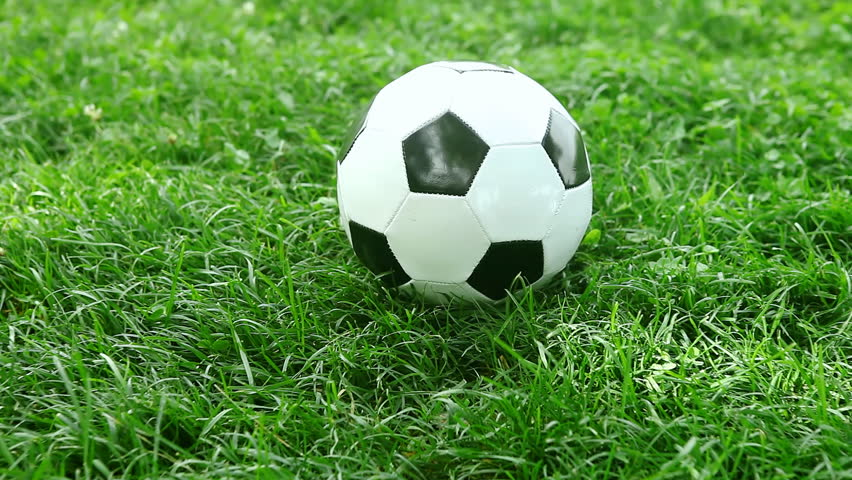 Rolling Soccer Ball On A Grass Field,looping Animation ... Rolling Soccer Ball