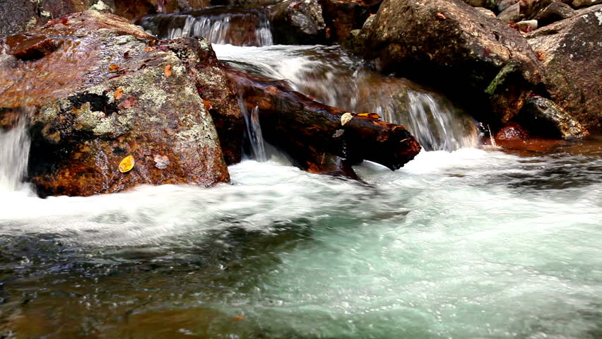 Flow of water in a mountain stream