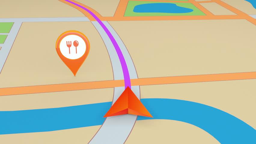 GPS navigation concept. Seamless loop.   Shutterstock HD Video #3567083