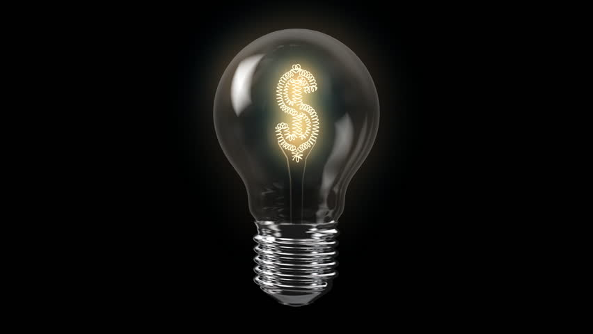 US Dollar Bulb with Alpha Channel