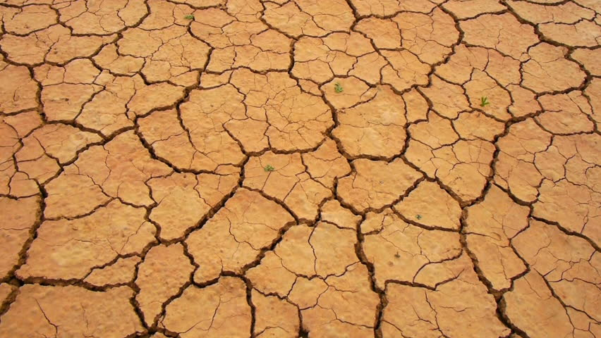 Dry Cracked Soil In A Desert Stock Footage Video 3586427 ...