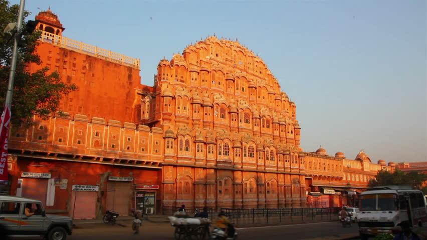 Hawa Mahal Hd Images: Aerial View On Jaipur From Hawa Mahal Palace