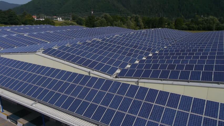 AERIAL: Solar panel array