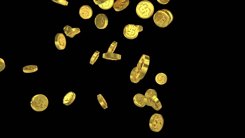 gold coins black background - photo #3