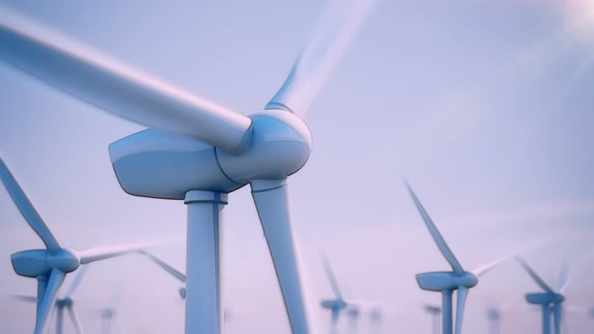 Seamless looping animation of wind turbines spinning | Shutterstock HD Video #3633503