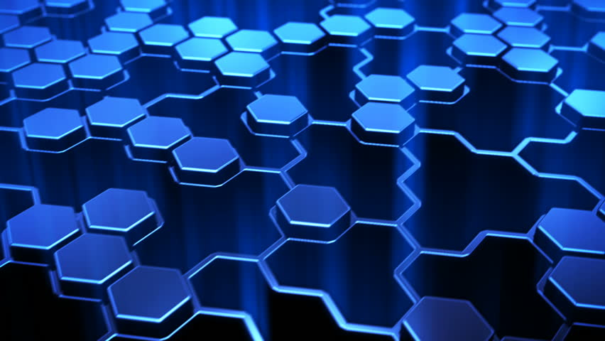 hexagon technology background stock footage video 100