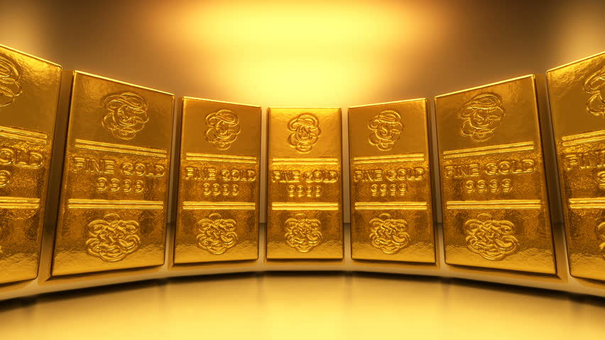 Pile Of Gold Coins Spilled Out Of The Open Door Of The