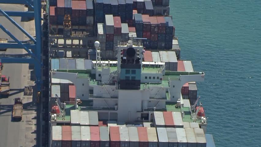 RIJEKA, CROATIA - OCTOBER 23, 2009: Container ship Maersk Karachi on line Asia -