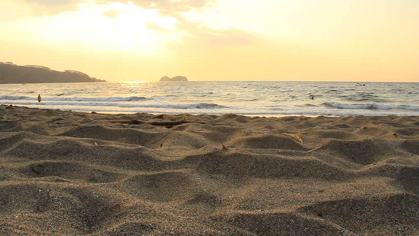 Late afternoon before sunset on Playa Hermosa in Costa Rica in March 2013.