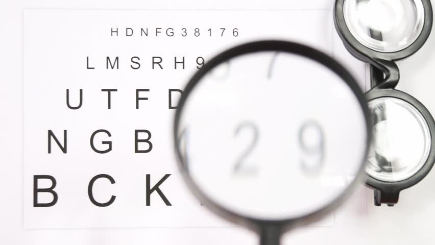 Eye test to an ophthalmologist / eye test