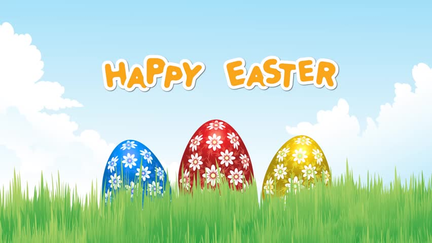Happy Easter Egg on Grass - HD stock video clip