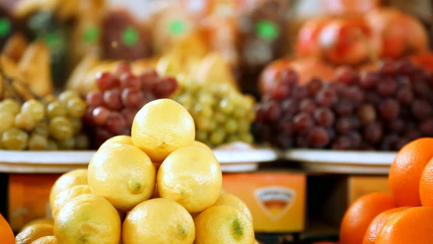 Beautiful dynamic view of healthy fruits food #3746417