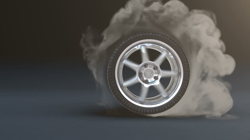 What Is Tire Aspect Ratio >> Tire Burnout. Smoke On Dark Stock Footage Video (100% ...