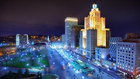 Downtown Providence, Rhode Island, USA.