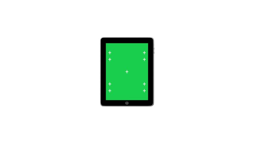 Digital tablet with Green screen with alpha #3763082