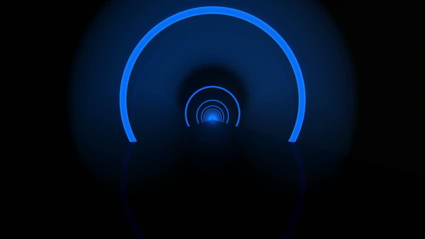 Futuristic Tunnel 3D animation   Shutterstock HD Video #3830933