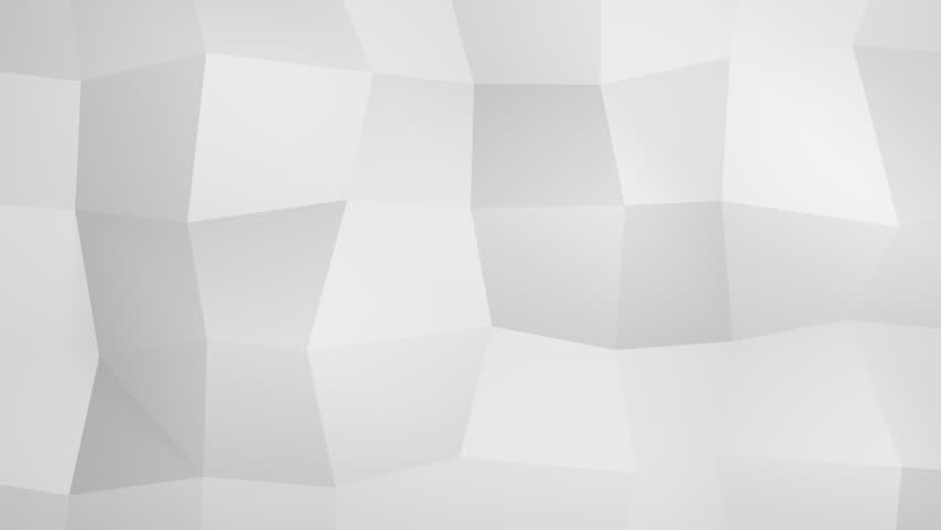Abstract Geometric Background Design In White, Seamless Animation ...