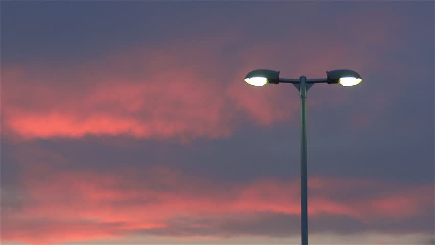 Modern Street Light Red Sunset Stock Footage Video 100 Royalty Free 3850343 Shutterstock