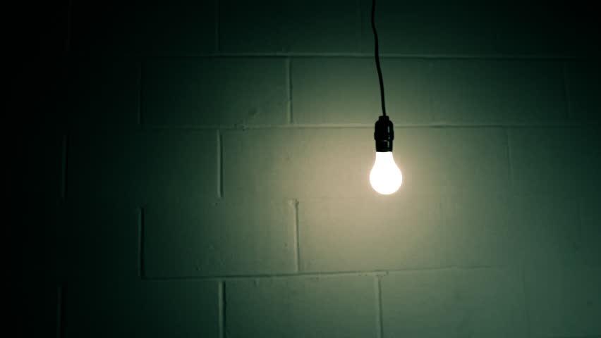Illustration Light Bulb Dark Room