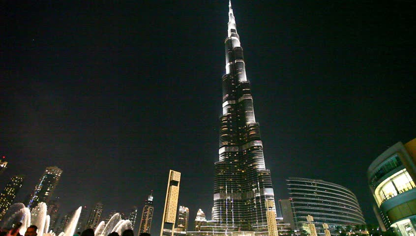 DUBAI, UAE - MARCH 25 : Burj Dubai - tallest building in the world, at 828m. on March 25,2013 in Dubai, UAE.