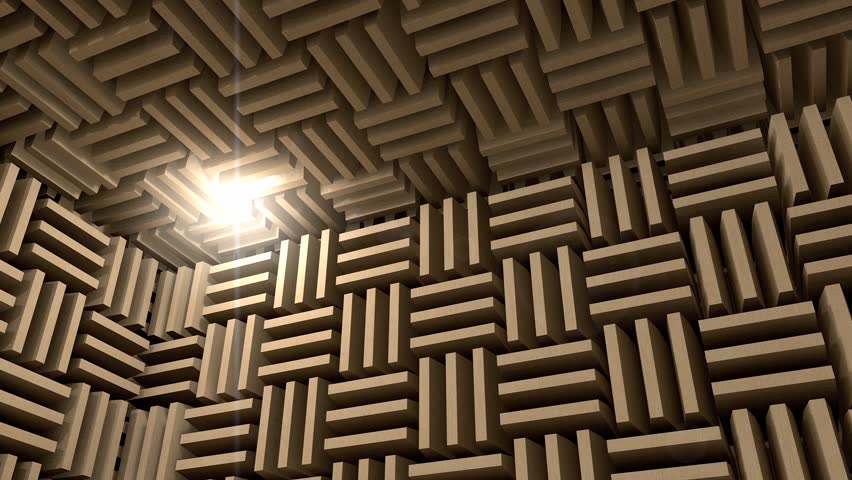 Sound Proof Room Anechoic Chamber Stock Footage Video