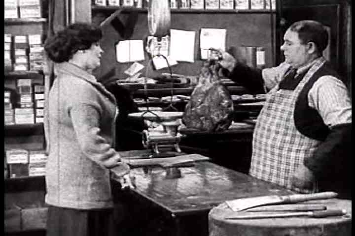 1920s - Activities inside a general store with a merchant in 1925.
