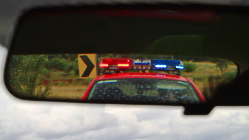 Stock Video Of Police Emergency Lights In The Rearview | 3938063 |  Shutterstock