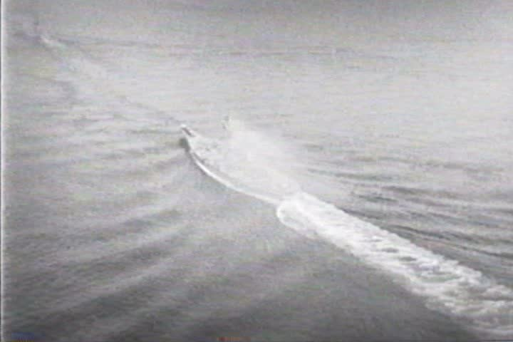 1940s - Battleships in various formations on the ocean - SD stock footage clip