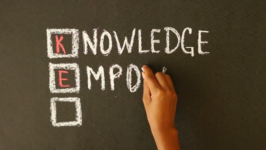 Knowledge Empowers You Chalk Drawing