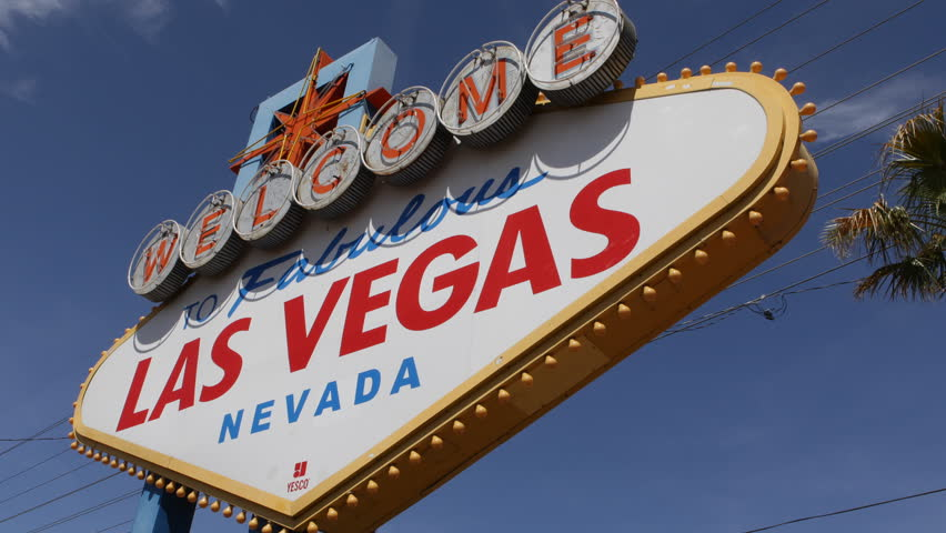 Welcome to Fabulous Las Vegas Nevada Sign, Las Vegas Strip, USA, by day | Shutterstock HD Video #3972553