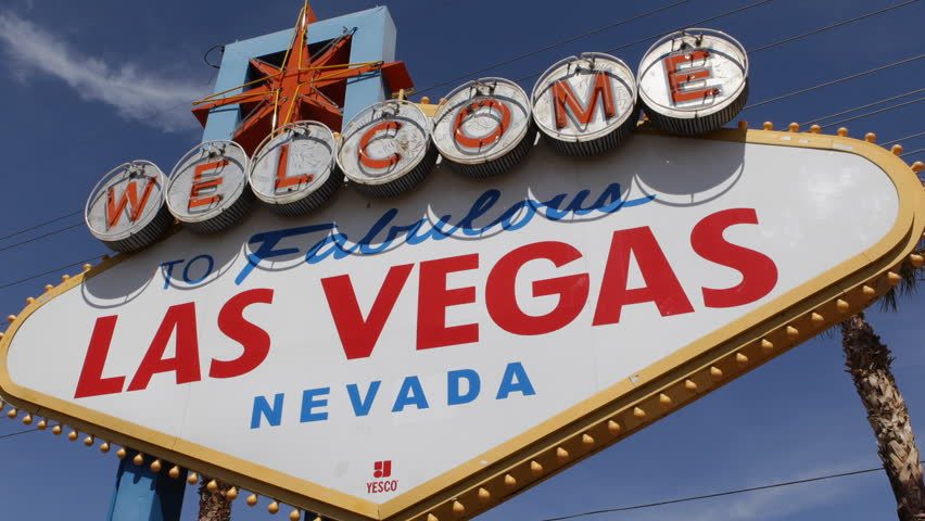 Welcome to Fabulous Las Vegas Nevada Sign, Las Vegas Strip, USA, by day | Shutterstock HD Video #3972577