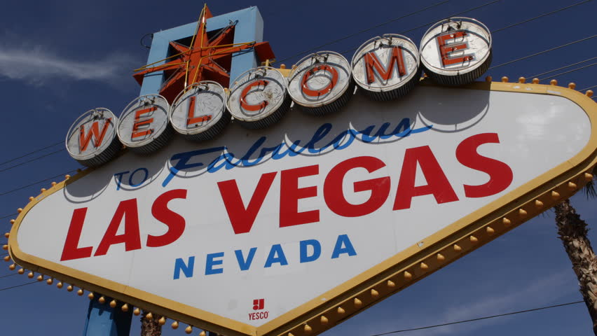 Welcome to Fabulous Las Vegas Nevada Sign, Las Vegas Strip, USA, by day | Shutterstock HD Video #3972610
