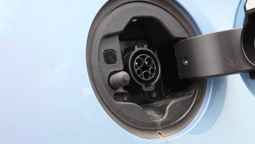 Charging of an electric car | Shutterstock HD Video #4022638
