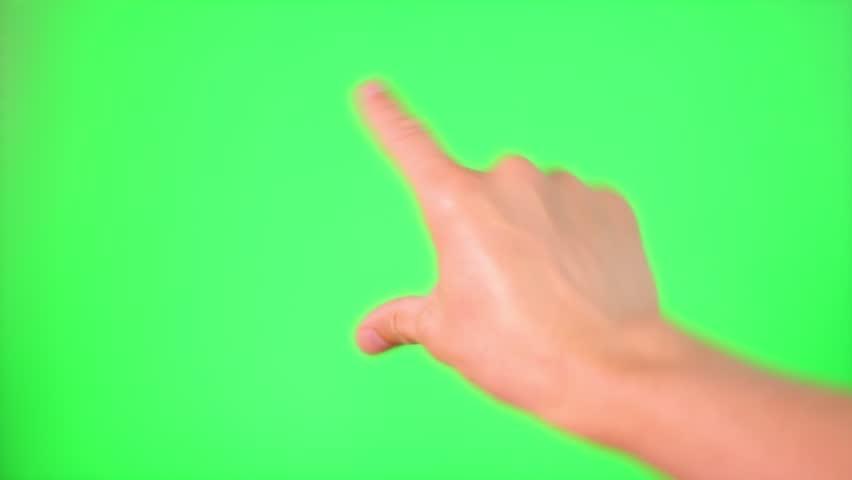 Touchscreen gestures Green Screen