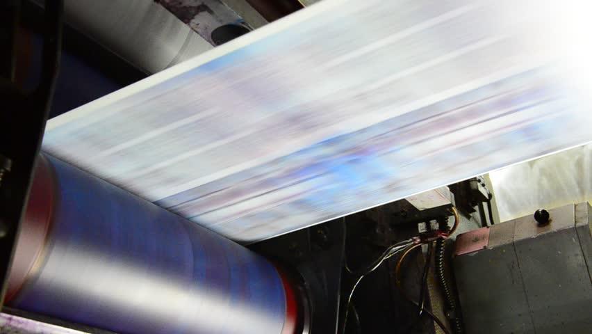 Web set offset print shop newspapers Printing (Loop), Newspapers coming off the