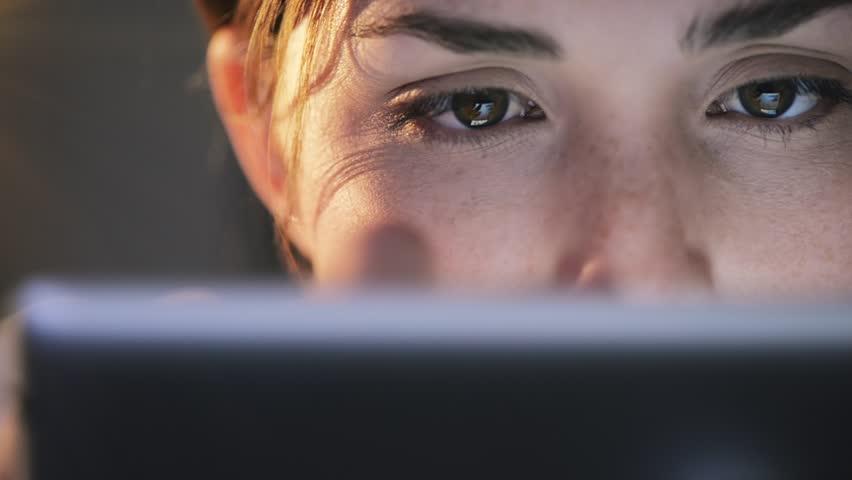 Woman using tablet computer touchscreen close-up   Shutterstock HD Video #4069102