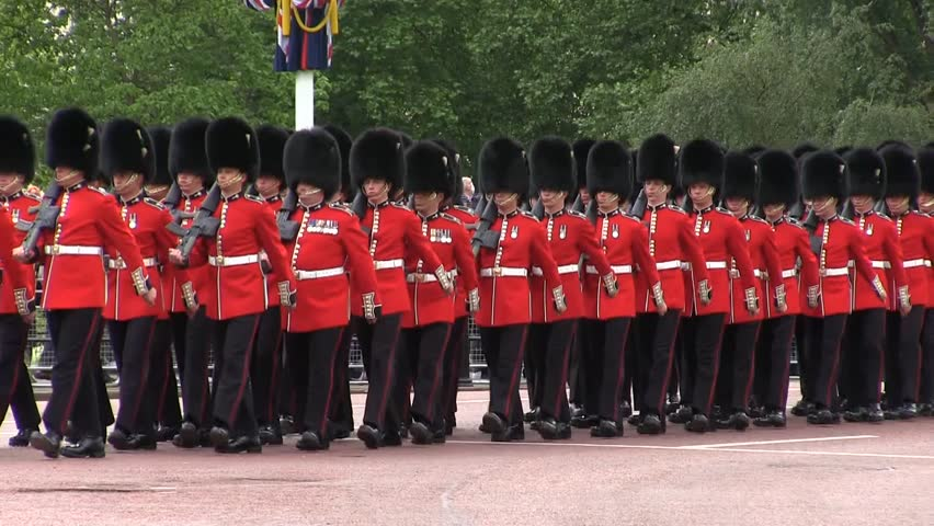 LONDON - JUNE 15: General view of the annual Trooping the Colour Ceremony at Buckingham Palace on June 15, 2013 in London