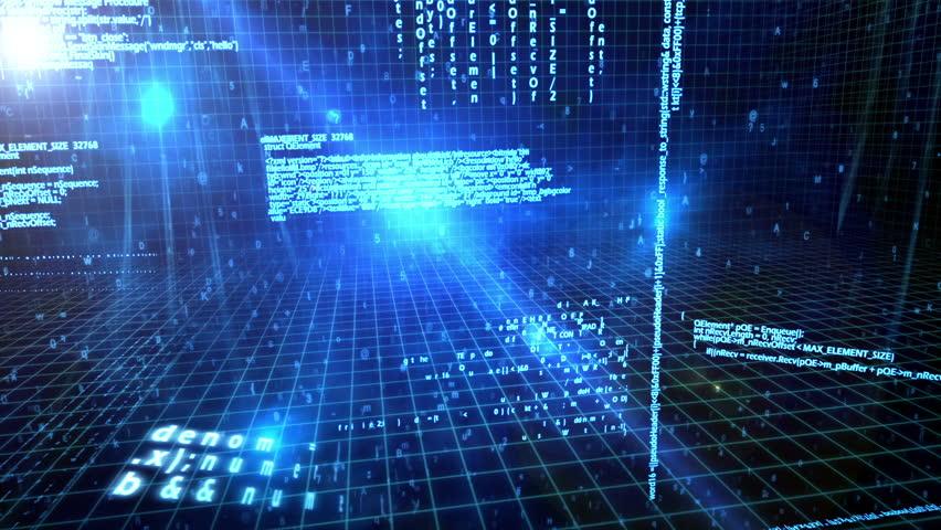 Computer virus animation video