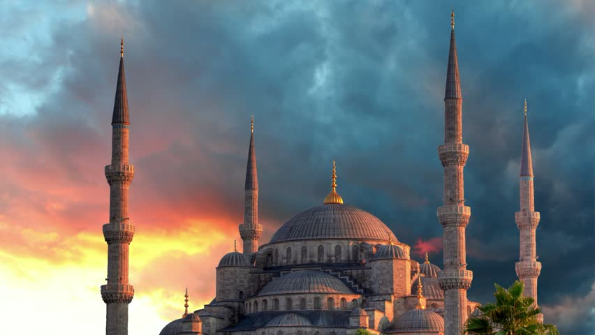 Istanbul, Blue mosque - time lapse