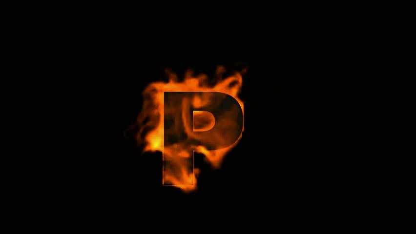 Stock video of fire letter p 4128010 shutterstock fire letter p altavistaventures Gallery