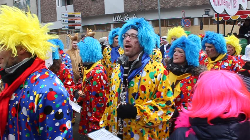 COLOGNE - FEBRUARY 11: Traditional carnival in Cologne, Germany on February 11, 2013