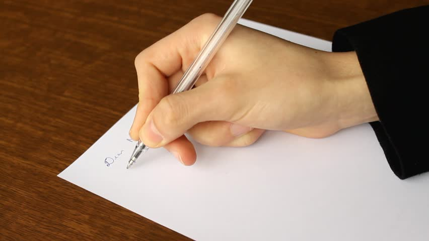 Human writing a formal letter in his office stock footage video busy man writing a formal letter to manager hands close up hd stock video thecheapjerseys Images